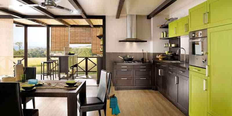 El verde en la decoración de cocinas 1