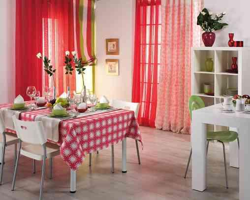Tejidos y textiles de luisa sempere decoraci n de for Decoracion de cortinas para comedor