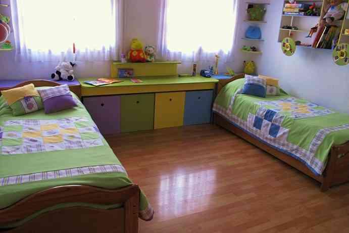 Decoraciones unisex para dormitorios compartidos - Habitaciones infantiles unisex ...