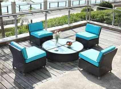 El color turquesa en el exterior de nuestro hogar for Mobiliario exterior para jardin