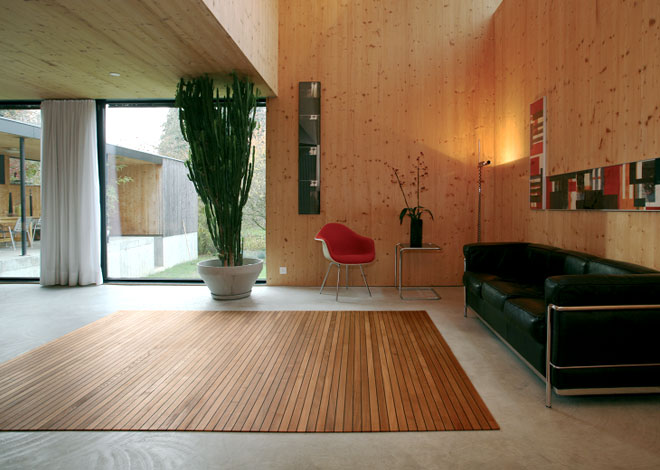 Alfombras de madera para tu hogar decoraci n de - Alfombra de coco ikea ...