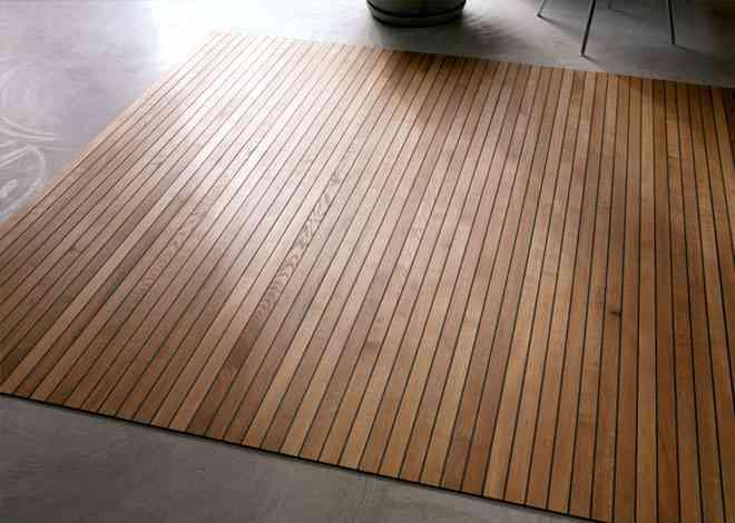 Alfombras de madera para tu hogar 3
