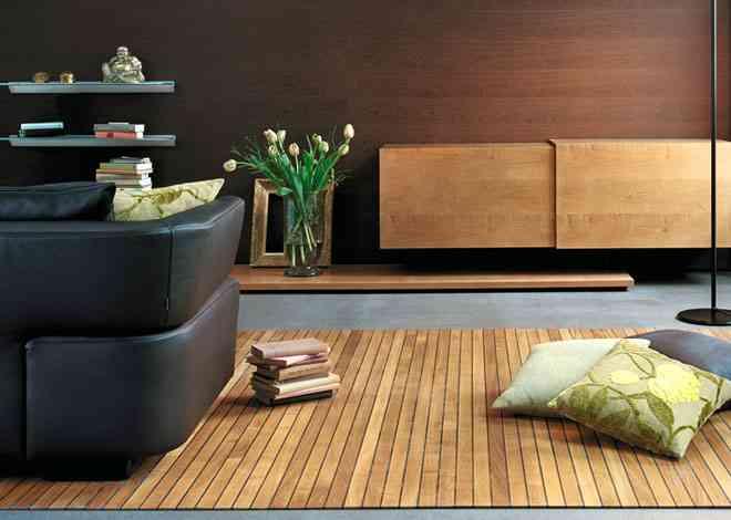 Alfombras de madera para tu hogar 4