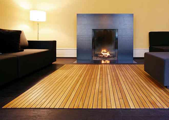 Alfombras de madera para tu hogar 5