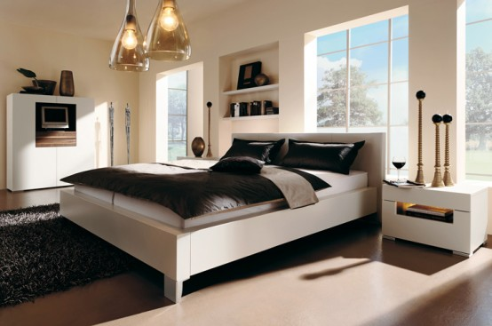 Líneas sencillas y colores neutros en la decoración del dormitorio 1