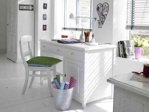 Un escritorio con estilo rom ntico decoraci n de interiores opendeco - Kinderzimmer fur zwei madchen ...