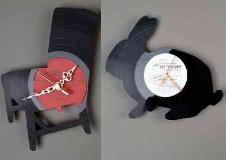 Re_Vinyl, colección de relojes de vinilo para pared de Pavel Sidorenko 1