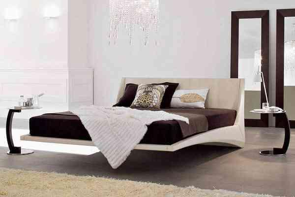 Dylan modern leather bed la cama que flota mujeres - Que es un futon ...