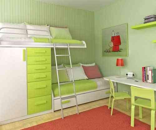 Imágenes que inspiran: dormitorios verde manzana 1