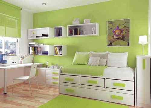 Im genes que inspiran dormitorios verde manzana decoraci n de interiores opendeco - Pared cocina pintada ...