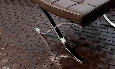 Elegantes alfombras de cuero para tu hogar 2