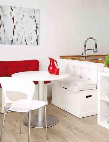 Tres ideas para decorar tu comedor diario de una manera for Banco rinconera comedor
