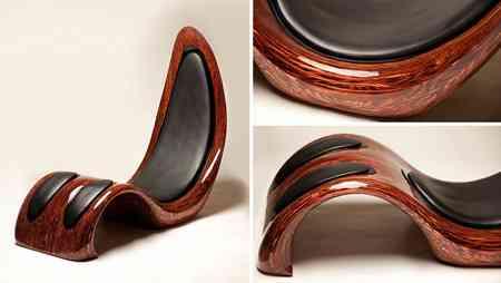 Lounge Chair, silla con 152 capas de madera de Kyle Buckner 1