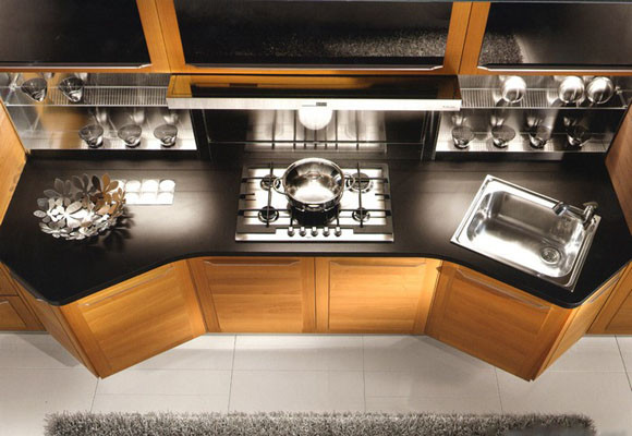 Muebles para cocinas con muchos ángulos y esquinas ...