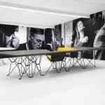 SitTable, una mesa con sillas incorporadas muy moderna 8