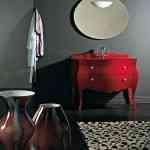 Mueble lavabo rojo