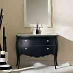 Mueble de lavabo negro