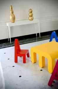Didácticos muebles infantiles con formas de letras 5