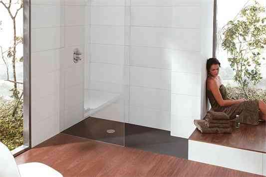 Baño Con Ducha Sin Plato:Sin plato … de ducha claro – Decoración de Interiores