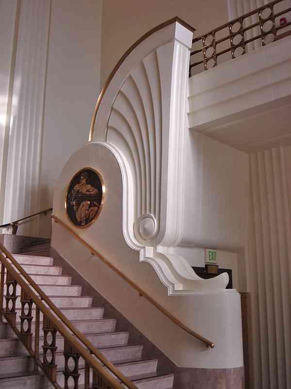 Art dec escalera burbank city hall de los angeles for Deco interiores