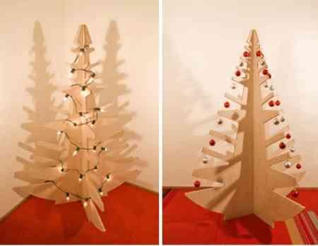 Rbol de navidad de madera decoraci n de interiores - Arbol de navidad de madera ...