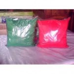 cojines rojo-verde