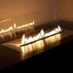 Minimalismo en la chimenea gracias a Planika Fires 5