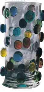 florero decorado gotas cristal