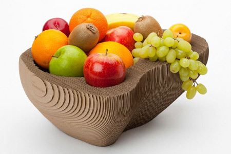 Fabrica tu propio frutero de cartón gratis diseñado por SEMdesign 1