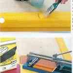 Mesa reciclada con azulejos 2