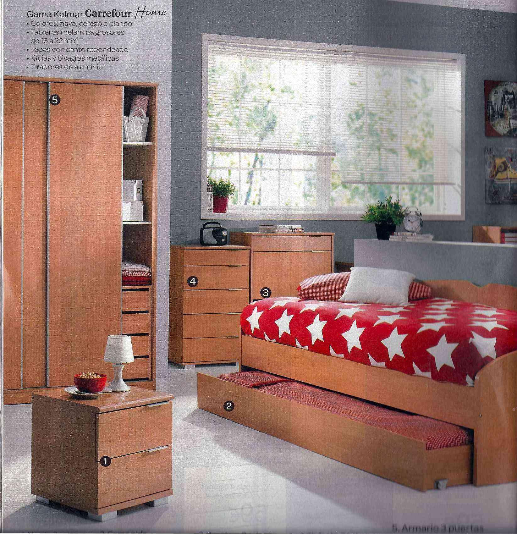 Comparativa de precios en dormitorio juvenil decoraci n for Carrefour muebles dormitorio