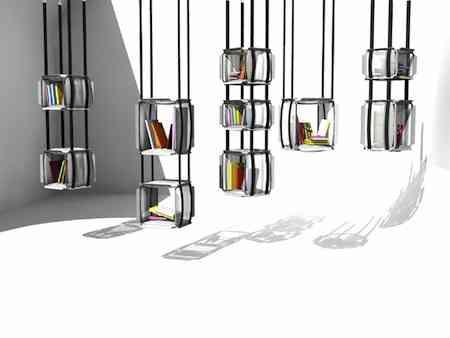 La biblioteca de los libros colgantes decoraci n de for Libros de decoracion de interiores