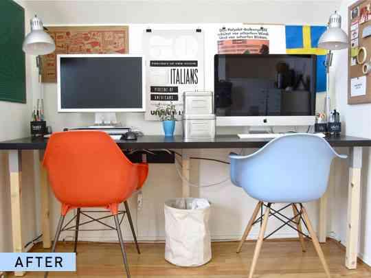 Convertir un escritorio para dos 2