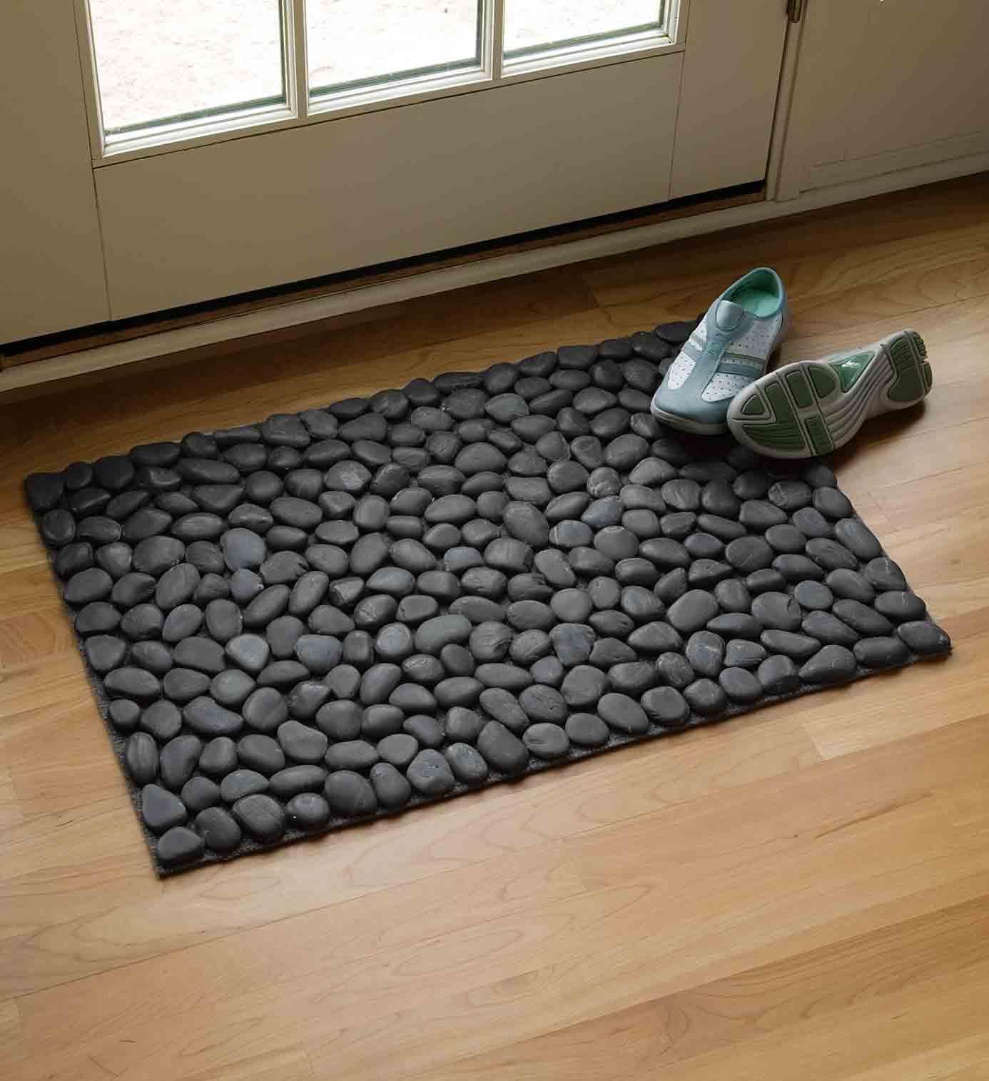 Felpudo de piedras de r o decoraci n de interiores - Felpudos a medida ...