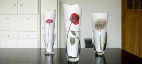 Una idea para decorar con flores de papel 2