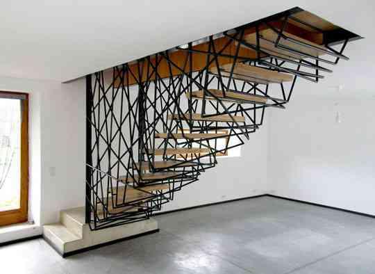 El desorden hecho estilo en una escalera 2