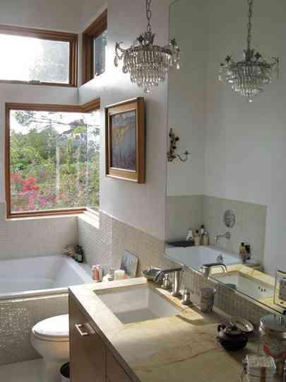 Lamparas Para El Baño:El baño, también con lámparas de araña – Decoración de Interiores