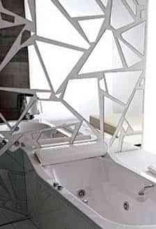 Paredes cubiertas con espejos decoraci n de interiores - Cristales para paredes ...