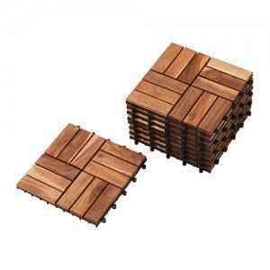 Suelo de madera para la terraza IKEA 1