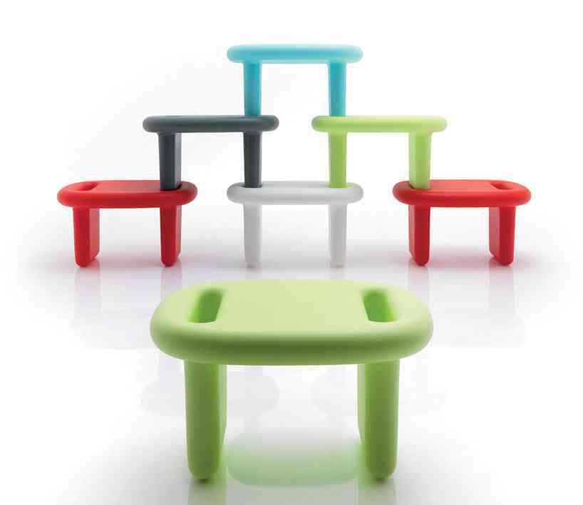 Taburetes apilables y coloridos para tu hogar 1