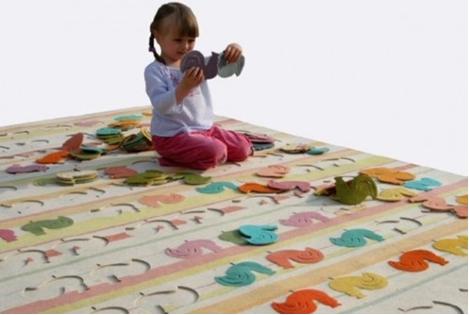 Divertida alfombra puzzle para niños 2
