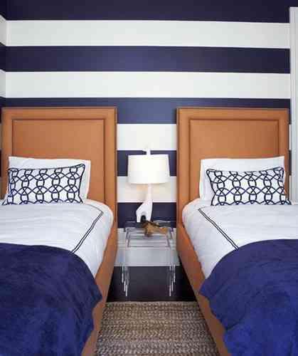 Habitaciones con dos camas y mucho estilo decoraci n - Habitaciones juveniles con dos camas ...
