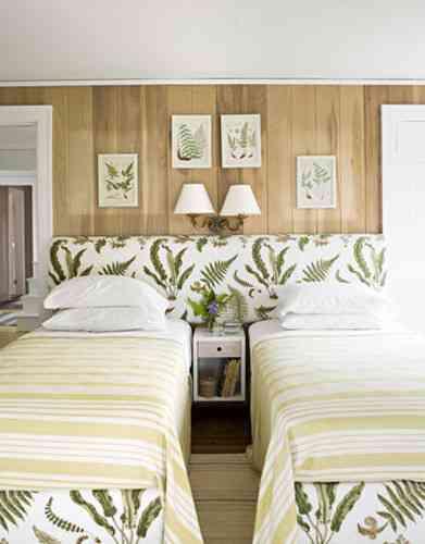 Habitaciones con dos camas y mucho estilo decoraci n for Habitaciones con dos camas