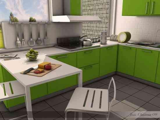 Cocinas verdes 1