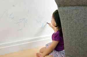 Limpiar el crayón de las paredes 1