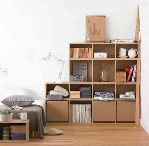 dise o muji de pulpa de cart n decoraci n de interiores. Black Bedroom Furniture Sets. Home Design Ideas