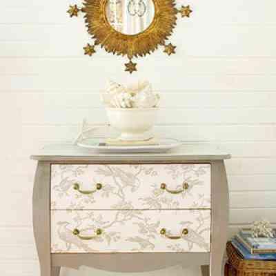 Una original idea para decorar c modas con papel - Papel pintado autoadhesivo para muebles ...