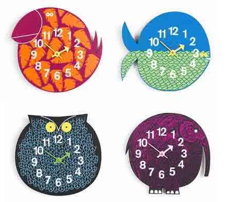 Relojes para ni os decoraci n de interiores opendeco - Manualidades relojes infantiles ...