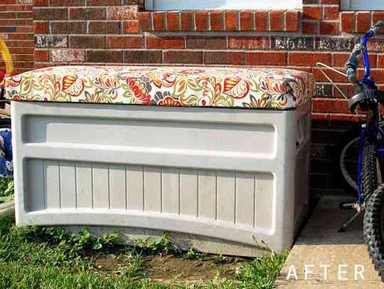 Original idea para restaurar un baúl de terraza 2