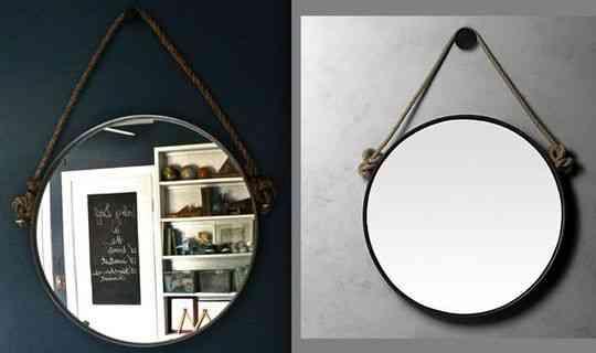 Una original idea para colgar un espejo decoraci n de for Espejos para colgar
